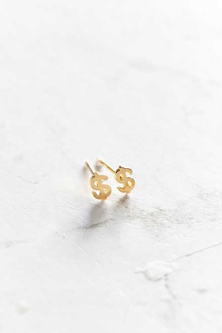 Seoul Little 24k Gold-Plated Dollar Post Earring