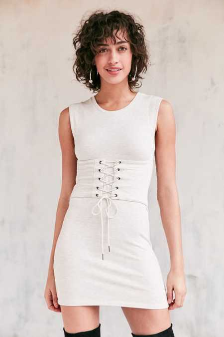 Silence + Noise Muscle Tee Corset Dress