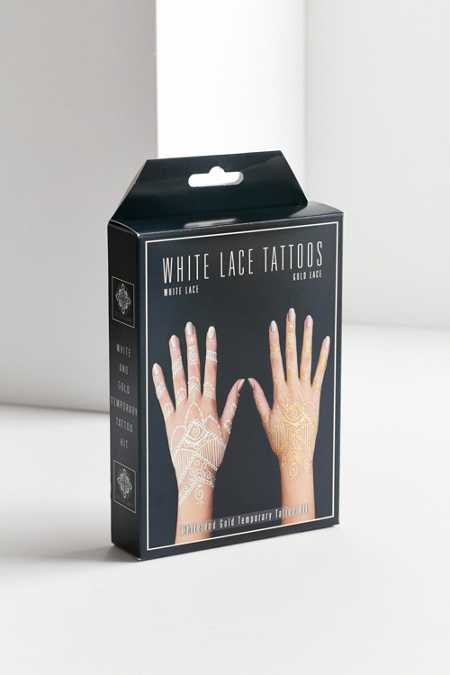 White Gold Lace Temporary Tattoo Kit