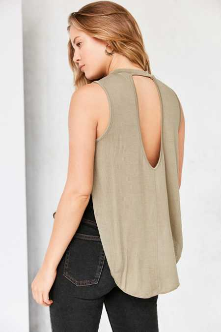 Silence + Nosie Liam Cross Over Muscle Tank Top