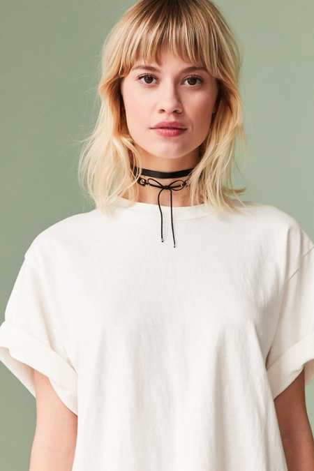 Satin Lace-Up Choker Necklace