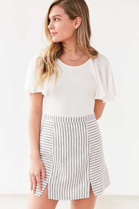 Cooperative Kendric Notch Hem Linen Skirt