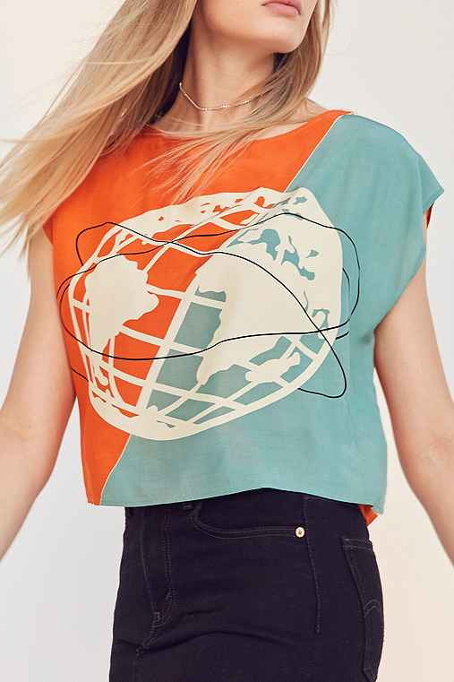 Silence + Noise Melby Muscle Tee,ORANGE,L