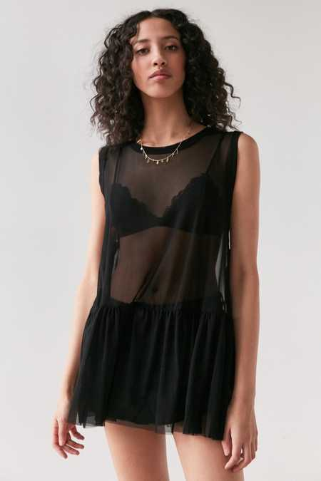 Truly Madly Deeply Mesh Babydoll Tank Top
