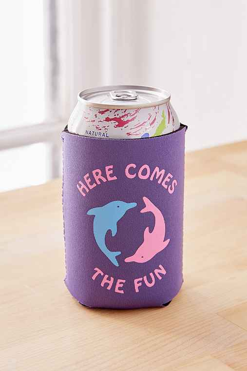 Insulated Drink Holder,HERE COMES THE FUN,ONE SIZE