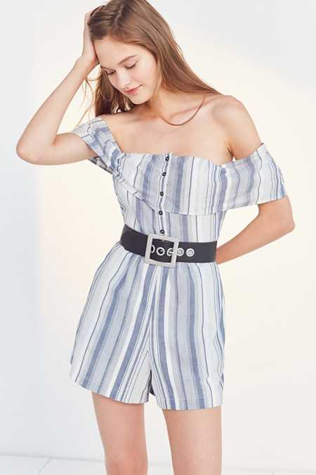 Ecote Gauzy Off-The-Shoulder Romper
