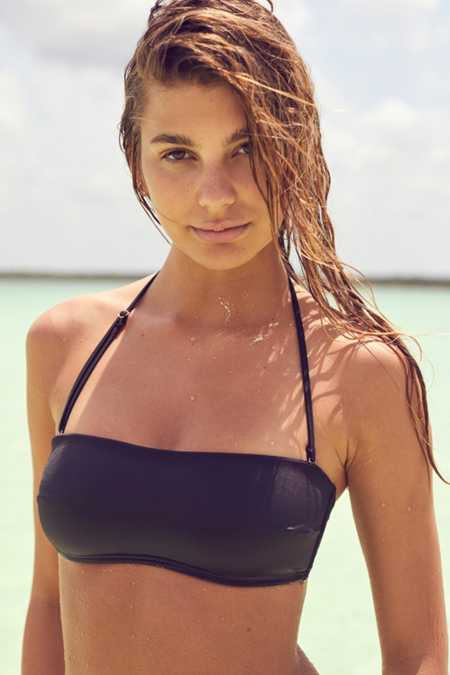 Out From Under Tie-Back Bandeau Bikini Top