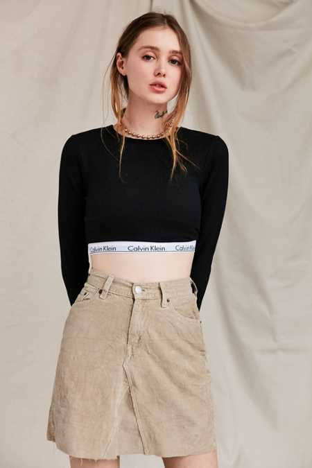 Urban Renewal Recycled Corduroy Mini Skirt