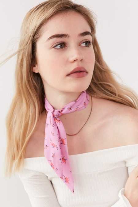 Patterned Neck Tie Scarf