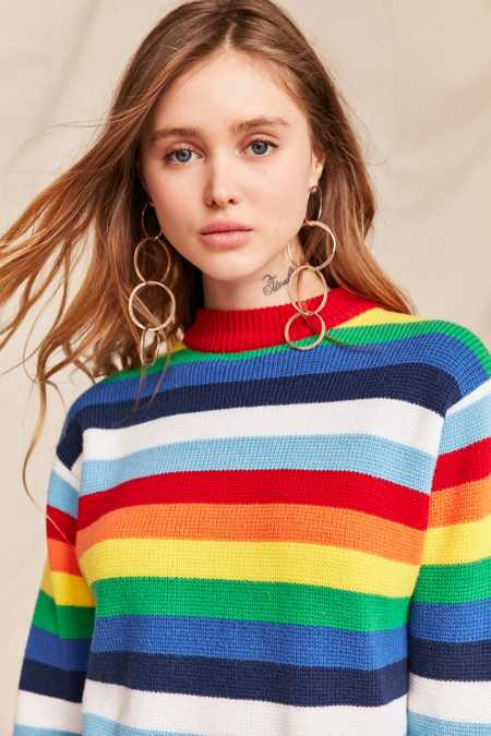 Vintage 70's Rainbow Crew Neck Sweater