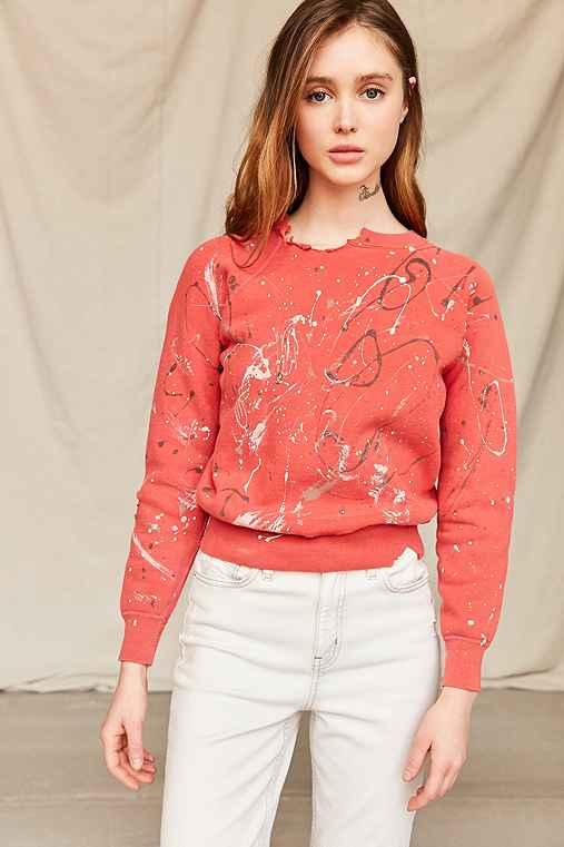 Vintage Paint-Splattered Sweatshirt,ASSORTED,ONE SIZE