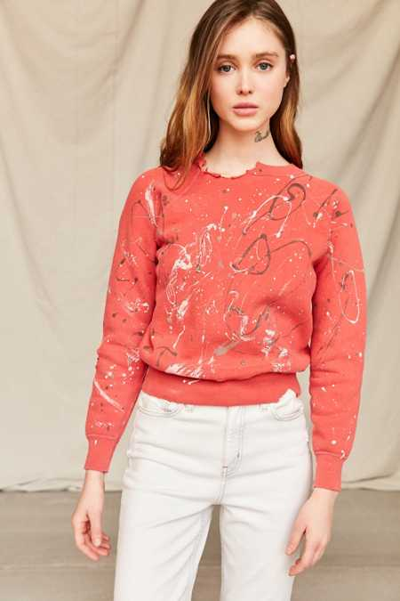Vintage Paint-Splattered Sweatshirt