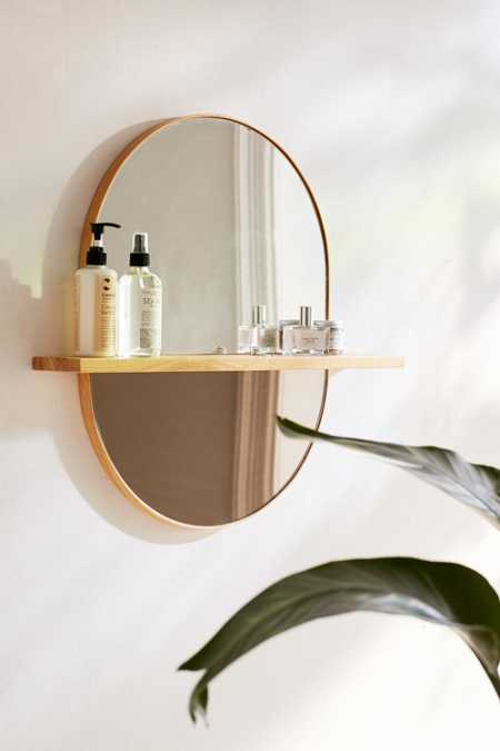 Ivette Rounded Mirror Shelf