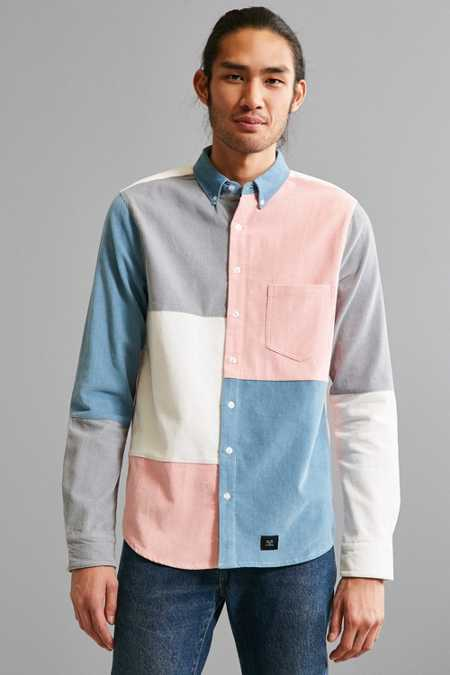 Lazy Oaf Patchwork Corduroy Button-Down Shirt