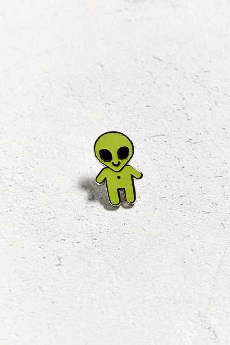 These Are Things Glow-In-The-Dark Alien Pin