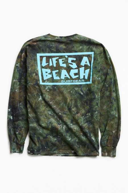 Life's A Beach Logo Dyed Long Sleeve Tee