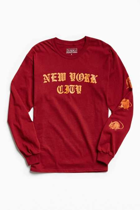 New York City Rats Long Sleeve Tee
