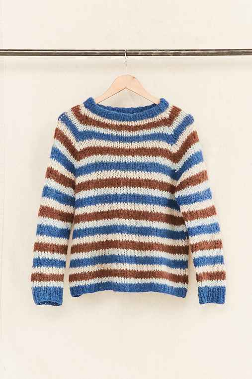 Vintage Stripe Textured Sweater,ASSORTED,ONE SIZE
