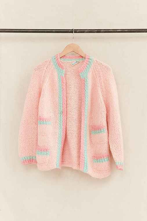 Vintage Pink Textured Cardigan,ASSORTED,ONE SIZE