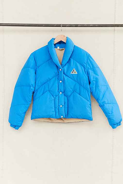 Vintage Blue Puffer Jacket,ASSORTED,ONE SIZE