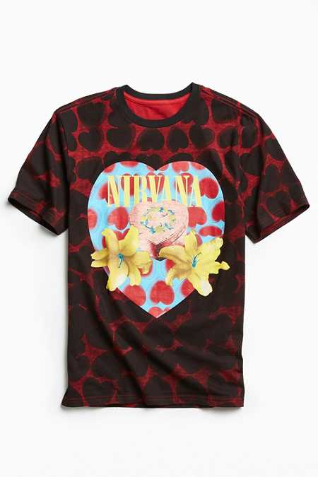 Nirvana Heart-Shaped Box All Over Tee