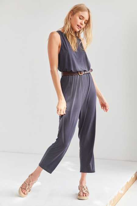 Silence + Noise Cupro Surplice-Back Jumpsuit