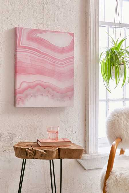 Emanuela Carratoni For DENY Sweet Pink Agate Canvas Wall Art
