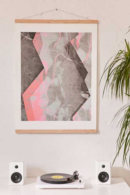 Emanuela Carratoni For DENY Marble And Rose Art Print