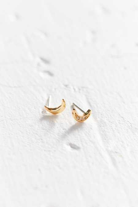 18k Gold-Plated Rhinestone Icon Post Earring