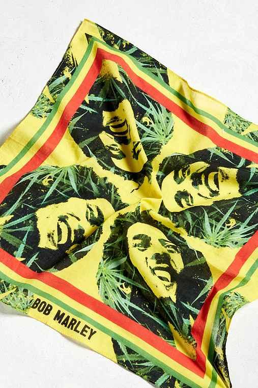 Bob Marley Bandana,YELLOW,ONE SIZE