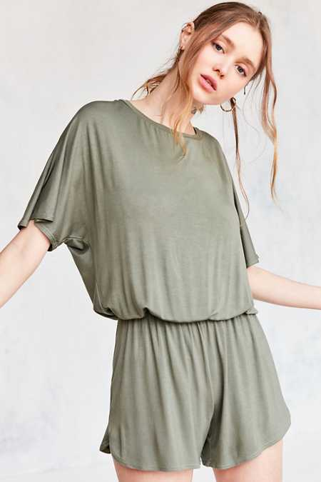 Silence + Noise Slouchy Tee Romper
