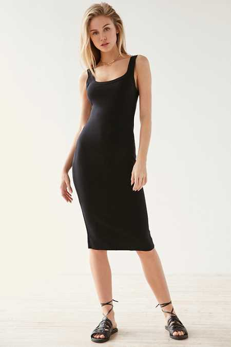 BDG Split Strap Bodycon Midi Dress