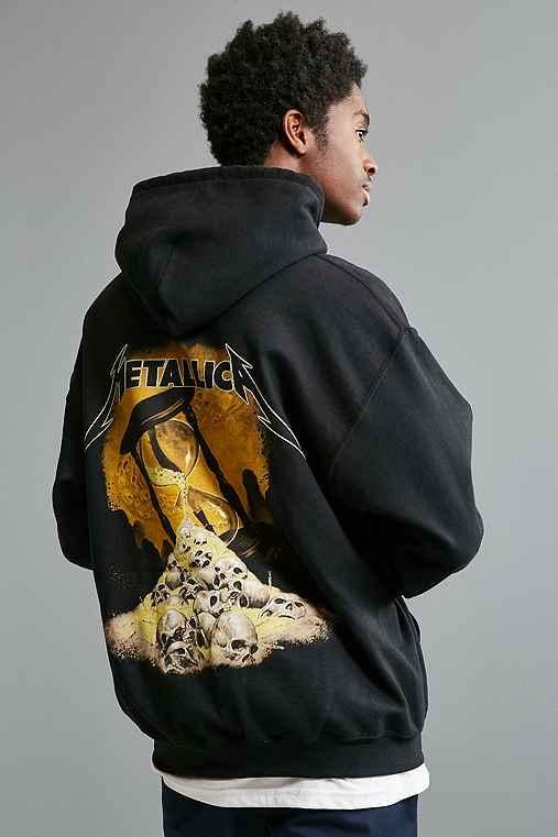 Metallica Hoodie Sweatshirt,BLACK,XL
