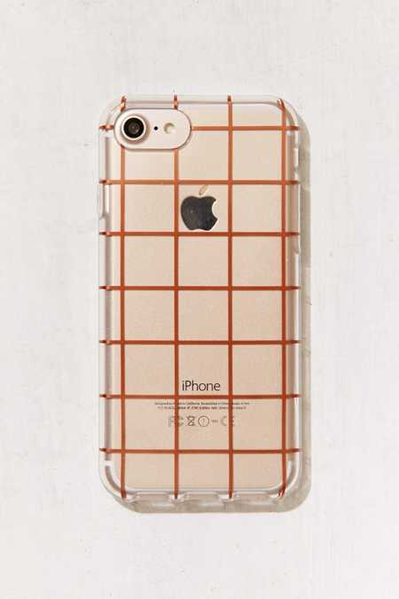 Rose Gold Grid iPhone 7/6 Case