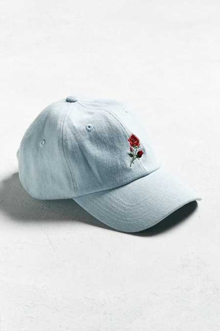 UO Denim Rose Baseball Hat