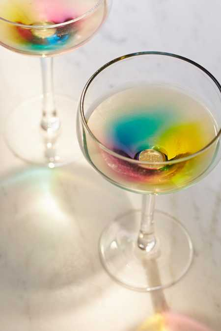 Rainbow Coupe Glass - Set Of 2