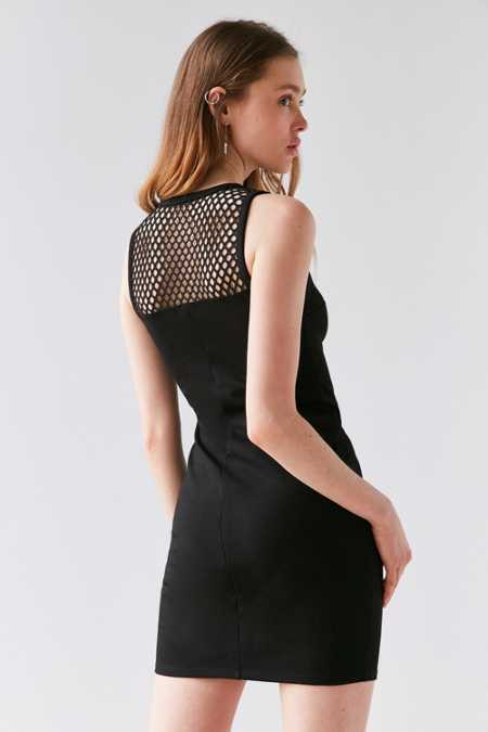 Silence + Noise Mesh Insert Bodycon Dress