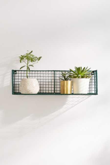 Caleb Wire Grid Wall Shelf