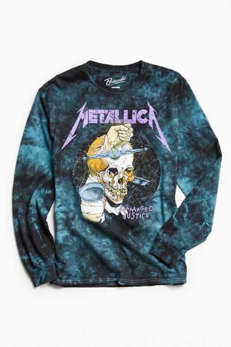 Metallica Justice Dye Long Sleeve Tee