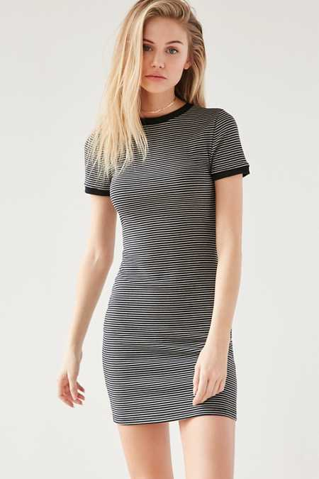 BDG Striped Bodycon Tee Dress
