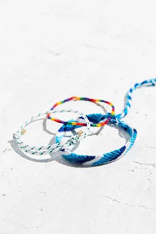 Friendship Bracelet Set,WHITE,ONE SIZE