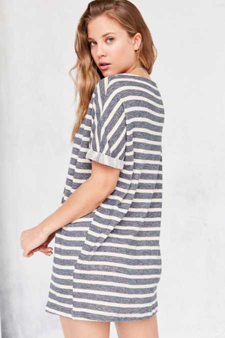 BDG Terry Stripe Tee Dress