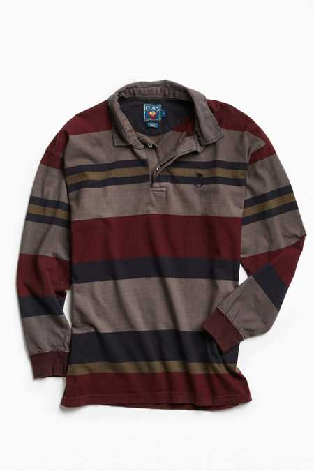 Vintage Chaps Overdyed Striped Rugby Shirt