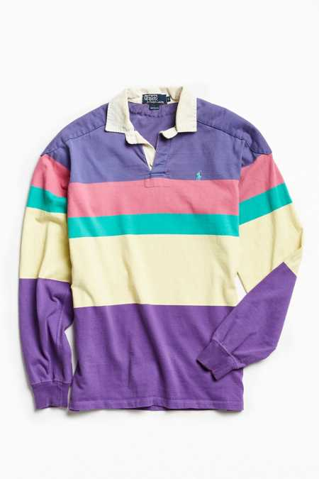 Vintage Polo By Ralph Lauren Colorblocked Rugby Shirt