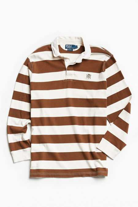 Vintage Polo By Ralph Lauren Striped Rugby Shirt