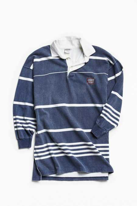 Vintage GUESS Striped Rugby Shirt