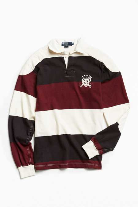 Vintage Polo By Ralph Lauren Bar Stripe Rugby Shirt