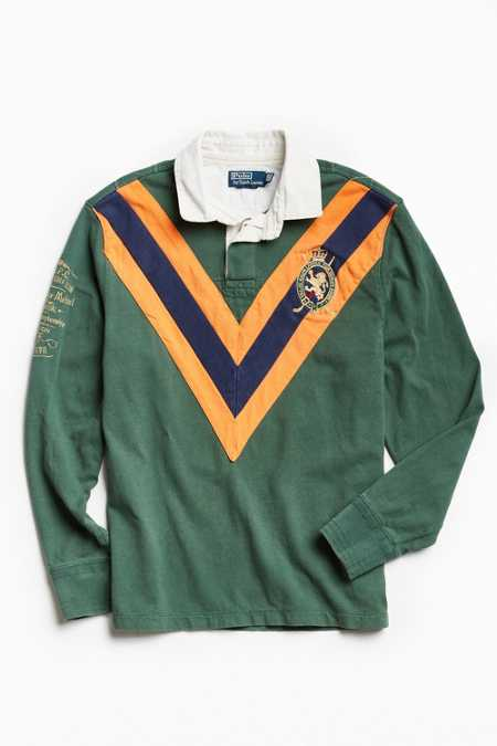 Vintage Polo By Ralph Lauren Chevron Stripe Rugby Shirt