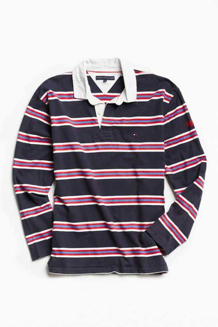 Vintage Tommy Hilfiger Striped Rugby Shirt