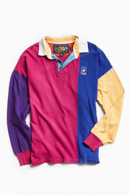 Vintage Chaps Colorblocked Rugby Shirt